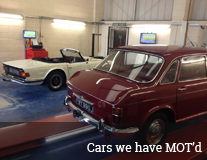 Cars we've MOT'd gallery