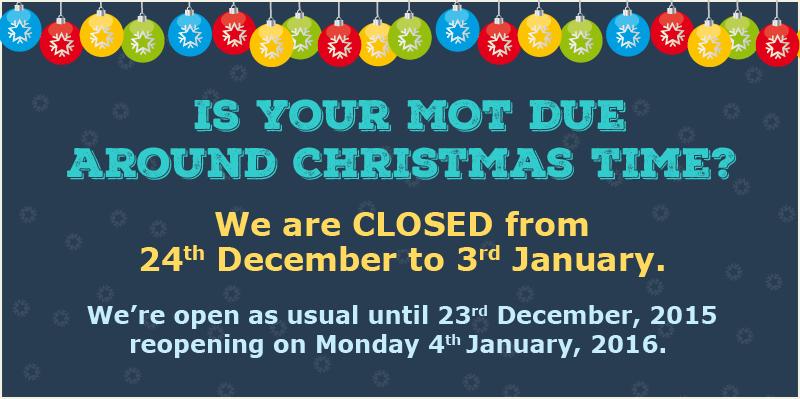 Christmas holiday closing