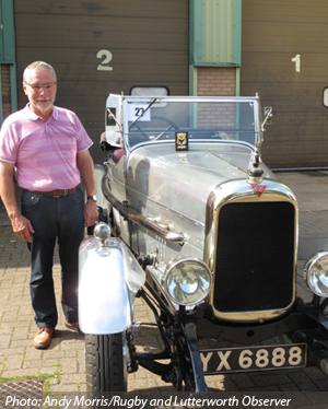 Mr Taylor and Vehicle of the Show, the Alvis 12/50.