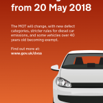 MOT changes - May 2018
