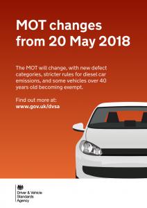 MOT changes - May 2018